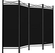 Deuba Deuba kamerscherm zwart Hoogte 180cm Breedte 163cm