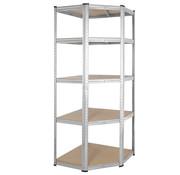 Monzana Deuba Metalen Opbergrek/Stellingkast hoek met 5 legborden - 875kg draagkracht - (HxBxD) 180x70x40 cm - 175kg per plank