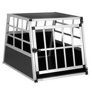 Cadoca Hondentransportbox M 70x54x51cm aluminium