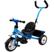 Deuba Deuba Kinderdriewieler Raceline - metaal - duwstang - blauw