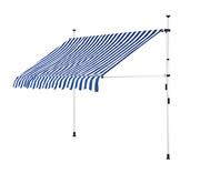 Detex Detex Klemluifel blauw/wit 200cm