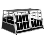 Cadoca Hondentransportbox XL 98x70x51cm Aluminium
