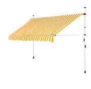 Detex Detex klem luifel Geel/Wit 300cm