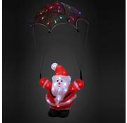 Monzana Monzana Kerstfiguur - 20CM MET verlichting  Kerstman met parachute