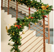 Deuba Deuba Guirlande Kerstkrans 5M MET verlichting voor binnen/buiten