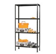Erro ERRO Metalen Opbergrek/Stellingkast met 4 legborden - 200kg draagkracht - (HxBxD) 175x73x30cm - 50kg per plank