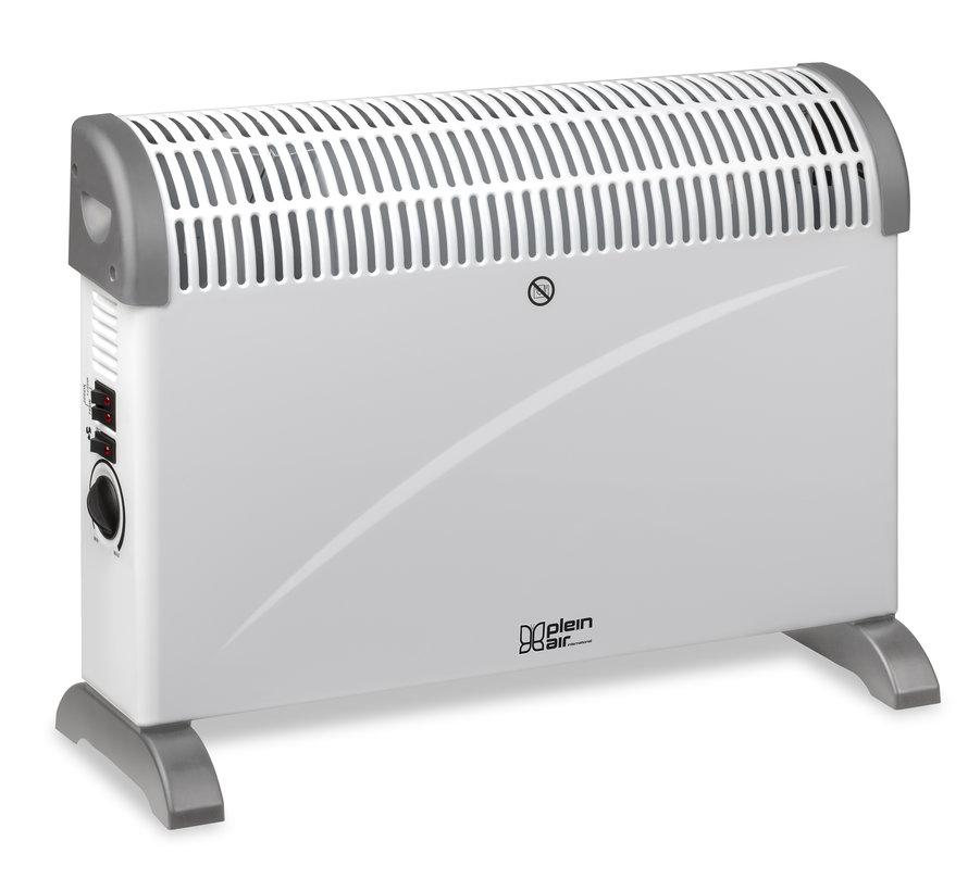Plein Air Elektrische Heater kachel TCT-2000 | 750/1500/2000W | Binnen | Badkamer |  Verstelbare thermostaat | Wit | 25m²