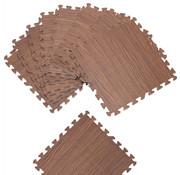 Deuba Deuba Vloerbescherming / puzzelmat 8 stuks - Bruin hout-look 172x87x1cm