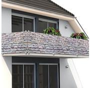 Deuba Deuba privacyscherm voor balkon/tuinomheining steen-look 5m