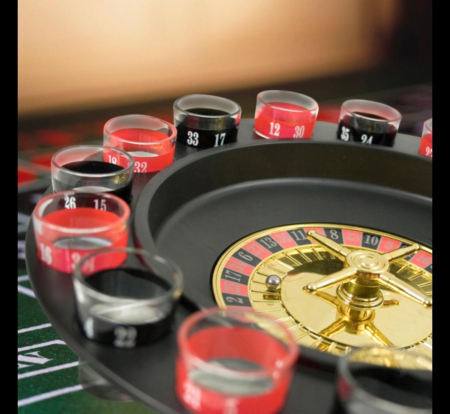 Roulette drankspel COV-19 | 16 shotglaasjes | 2 personen | Spin it to win it