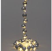 Casaria Casaria Kerstverlichting ballen 40-LED - Zilver- 2m