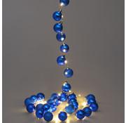 Casaria Casaria Kerstverlichting ballen 40-LED - Blauw - 2m