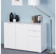 Casaria Casaria Dressoir Alba | Ladekast | wit met 3 deuren en laden | 107 x 74 x 35cm