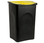 Deuba Deuba Vuilnisbak zwart/geel plastic 50L