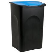 Deuba Deuba Vuilnisbak zwart/blauw plastic 50L