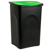 Deuba Deuba Vuilnisbak zwart/groen plastic 50L