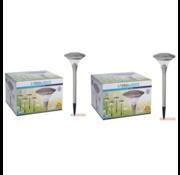 ProGarden 2x Progarden Solar Tuinlamp Set van 4 - 47cm (Gaat automatisch aan)