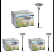 ProGarden 3x Progarden Solar Tuinlamp Set van 4 - 47cm (Gaat automatisch aan)