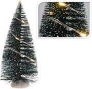 Generic Mini kerstboom met lampjes 2 stuks