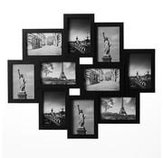 Deuba Deuba Fotolijst Collage zwart voor 10 foto's (10x15) - HxB 59x50cm