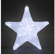 Monzana Monzana LED Acryl Kerstster | Helder wit | 30 x 5 x 30 cm | Voor binnen en buiten