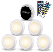 Monzana Monzana LED-lamp Set van 6 Skab White met afstandsbediening