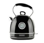 Bourgini Bourgini Nostalgic Thermo Waterkoker - zwart - 1,7L - retro