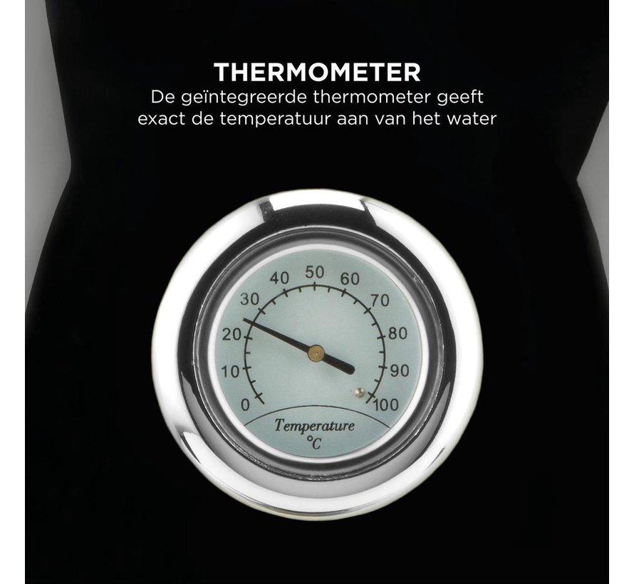 Bourgini Nostalgic Thermo Waterkoker - zwart - 1,7L - retro