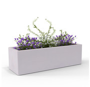Deuba Deuba Kunstof Plantenbak - rechthoekig grijs 80x30x27cm