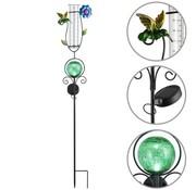 Deuba Deuba Zonne-energie-verlichting met regenmeter groen