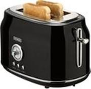 Bourgini Bourgini Retro Toaster Black
