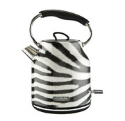 Bourgini Bourgini Zebra Waterkoker - Zebraprint - 1.7L - design - retro