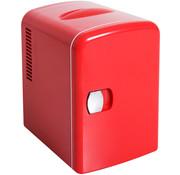 HOMdotCOM HOMdotCOM Mini koelbox rood 4L 28 x 20 x 30cm