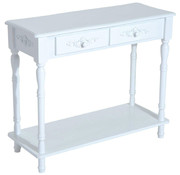 HOMdotCOM HOMdotCOM Sideboard dressoir hout wit 84 x 33 x 70,5cm