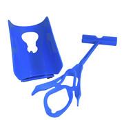 Generic 3 in 1 Dressing hulp voor sokken en schoenlepel, blauw