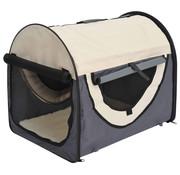 Pawhut Pawhut Honden transporttas opvouwbaar grijs/crème maat S 46 x 36 x 41cm