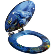 Deuba Deuba WC-bril Sealife - soft close roestvrijstalen scharnieren