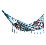Detex Detex Hangmat blauw 210x150cm met franjes