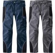 Generic Tailleband broek met reflecterende biezen, kleur marine/zwart, maat 60