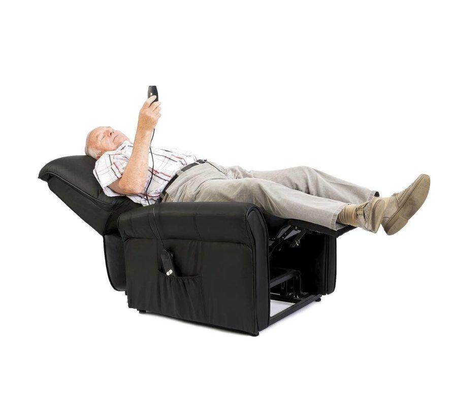 Relaxfauteuil massagestoel met  verwarmings en liftfunctie - Zwart