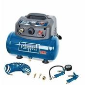 Scheppach Scheppach Compressor HC06 inclusief toebehoren - Olievrij | 1200W | 6L