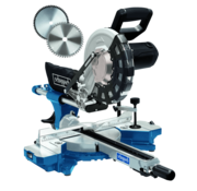 Scheppach Afkort-trekverstekzaag HM254 - 2000W | 255mm | Laser, LED en draaitafel | 2 zaagbladen