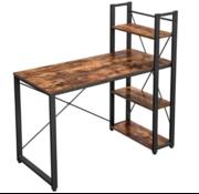 Loods 1 Loods 1 Vintage Bureau met 3 planken bruin/zwart boekenplanken