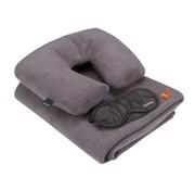 Perel Perel Comfort Reisset - Oogmasker, neksteun, oordopjes & deken - extra comfortabel