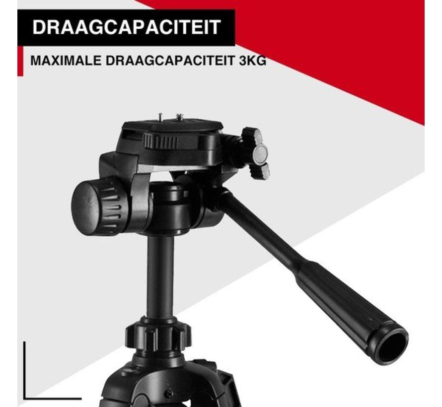 Picca Camera statief voor spiegelreflexcamera - tripod – GoPro en telefoon – 140 cm