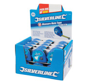 Silverline Silverline 'Measure Mate' rolmaat displaydoos 30 st., 3 m x 16 mm