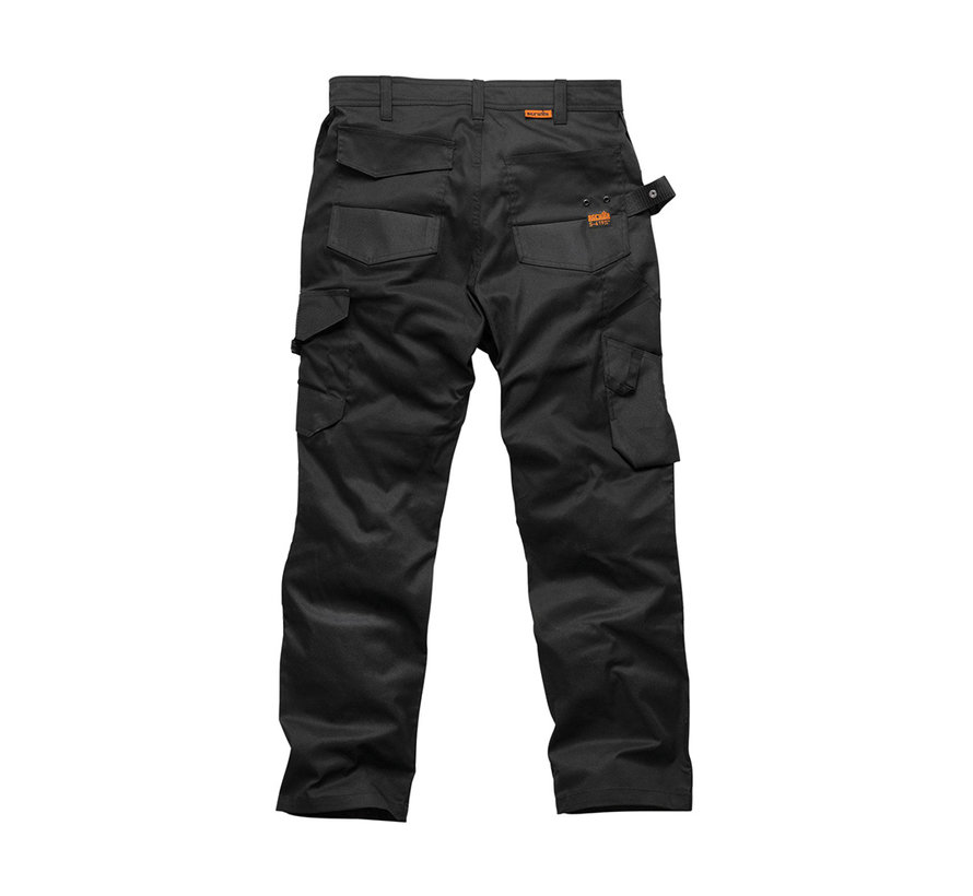 Scruffs Trade Flex werkbroek, zwart 34L