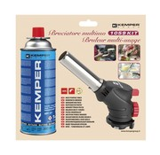 Kemper Kemper Multifunctionele Crème brulee brander - instelbare vlam - met vlamslot - max 650 °C