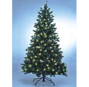 Xenotec Kerstboom met LED-verlichting, 118 LEDs, 120 cm, met voet