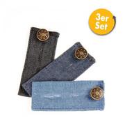Captain Clever Captain Clever Broekverlenging - sluitingsinzet met knoop, jeans 3st.